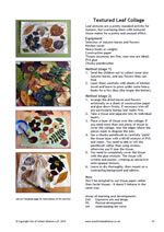 Texture Leaf Collage activity factsheet - sample image