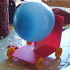 Balloon-powered car from Ticks the Box kit