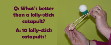 Lolly stick catapult