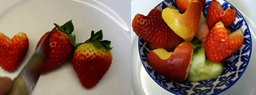 Heart-shaped fruit