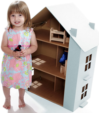 Paperpod doll's house from Kid Eco