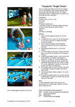 Tarpaulin target shoot activity factsheet